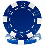 Produced from a composite resin and an insert that gives them the weight feel of a heavy casino quality chip. The six stripes and dice are the most interesting design on the market. This unique design is great for casinos and home style play alike.