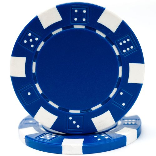 Trademark Poker 100 Striped Chip, 11.5gm, Blue