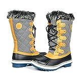 Kingshow Women's Globalwin Grey Waterproof Winter Boots - 10.5 D(M) US Women's