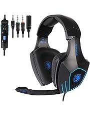Cuffie Gaming, SADES SA819 Gaming Headsets Cuffie Gaming Cuffie Da Gaming per PC Xbox One PS4, Cuffie da Gioco Stereo con Microfono