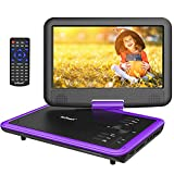 ieGeek 11.5 inch Portable DVD Player 360° Swivel Screen, AV-in/Out, SD Card & USB Port, 5h Rechargeable Battery, Support Resume Function, Region Free, Purple