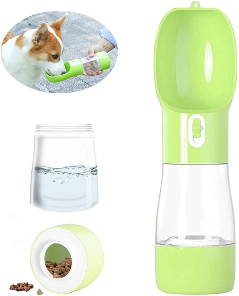 Misthis Dog Travel Water Bottle,Portable Dog Water Bottle Pet Drinking Bottle Drink Cup Dish Bowl Dispenser for Walking Traveling Hiking, Multifunctional Outdoor Water&Food Bowl for Dogs and Cats