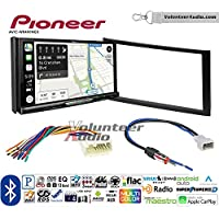 Volunteer Audio Pioneer AVIC-W8400NEX Double Din Radio Install Kit with Navigation, Apple CarPlay and Android Auto Fits 2003-2008 Honda Pilot