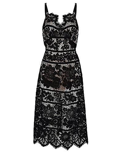Cotton V-neck Halter Dress - 1