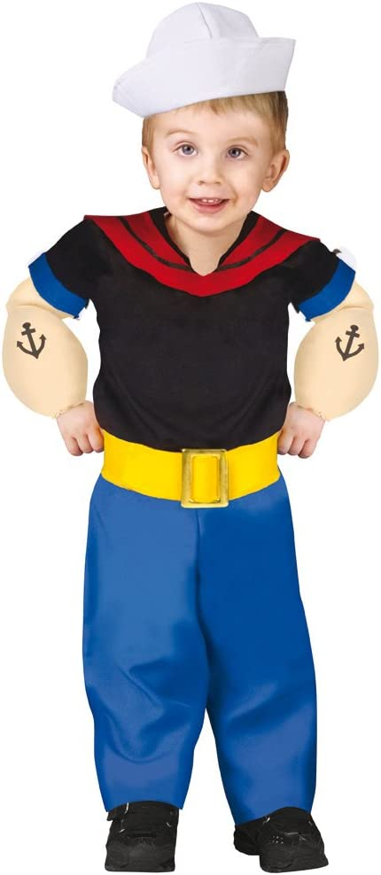 Horror-Shop niños pequeños Originales Disfraces Popeye L: Amazon ...