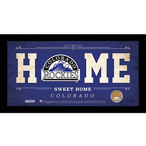 mlb-colorado-rockies-home-sweet-home-sign-with-game-used-dirt-from-coors-field-6-x-12-purple