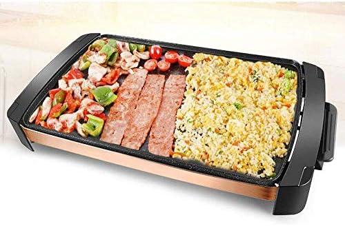 LEILEI Plaque chauffante électrique antiadhésive Teppanyaki Grill Pa intérieur Portable Barbecue Barbecue température réglable pour la Maison Cuisine Jardin fête Pique-Nique
