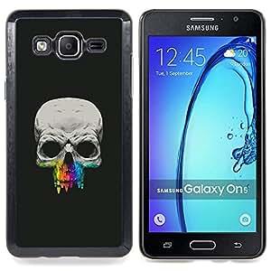 """Qstar Arte & diseño plástico duro Fundas Cover Cubre Hard Case Cover para Samsung Galaxy On5 O5 (Cráneo Diente Crayon"""")"""