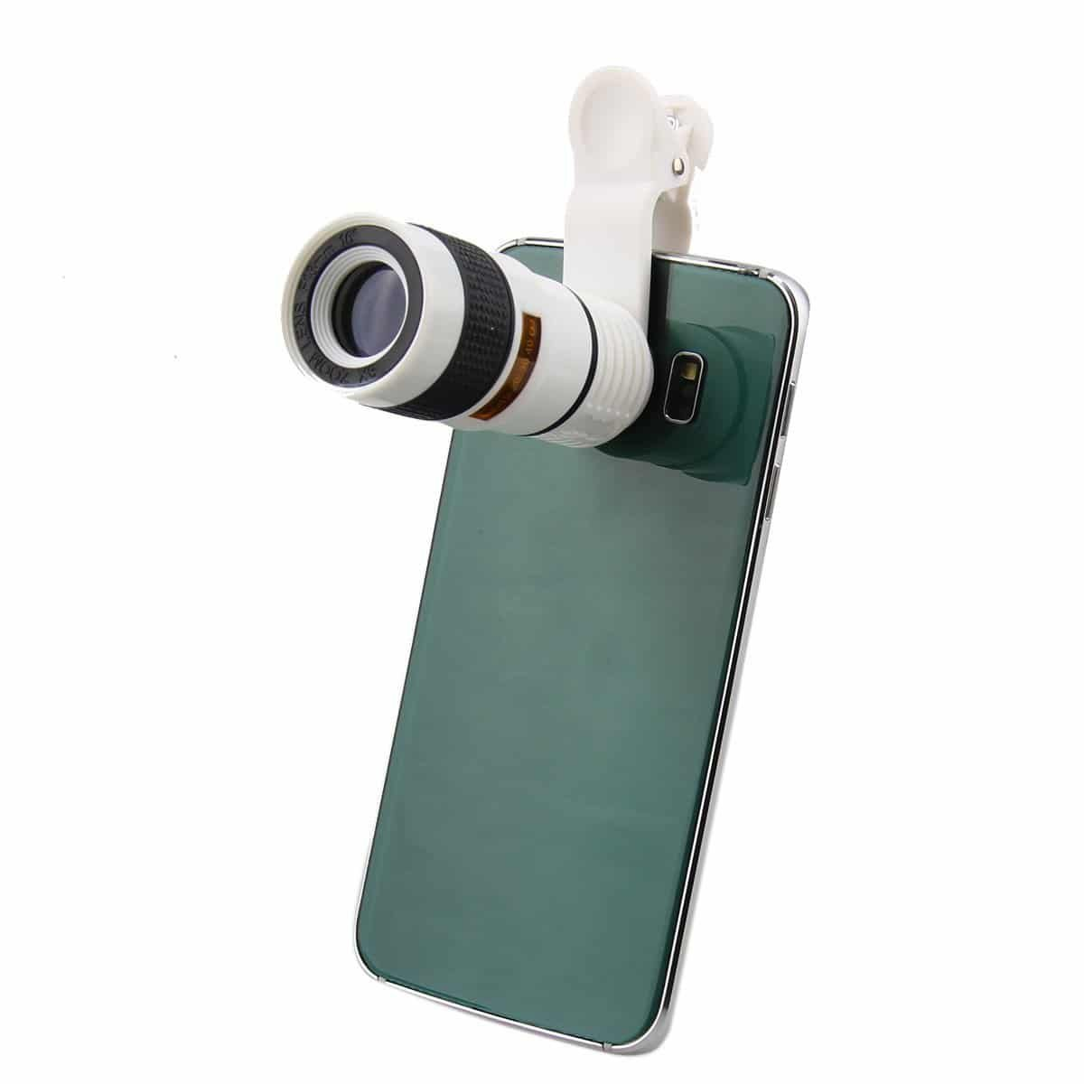 ONX3 Acer One 10 10.1'' (White 8x Zoom) Universal Clip-on 8x Zoom Optical Telescope Manual Focus Phone Camera Lens by ONX3® (Image #3)