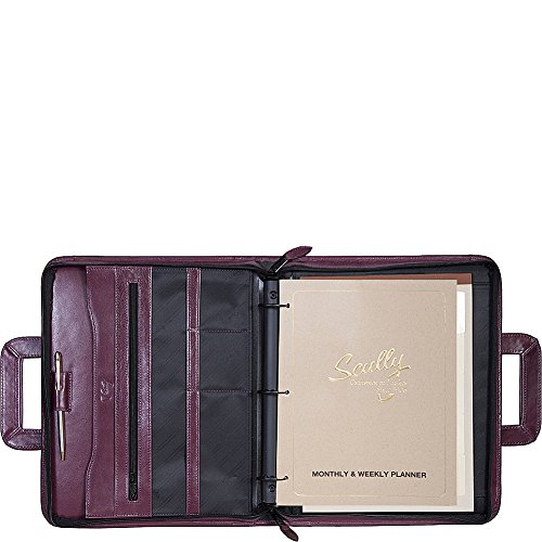 Scully 3-Ring Zip Binder Organizer with Drop Handles (Plum) by Scully
