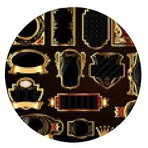 alfombrilla de ratón grandes marcos establecidos - ronda - 20cm