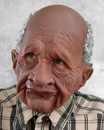 Rubber Face Masks Halloween (Zagone Grandpappy Mask, Wrinkled Old Brown)