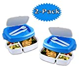 Stay-Fit Lunch 2 Go Container, EZ Freeze (2-Pack)