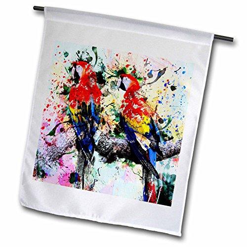 3dRose Abstract - Paint splats, and layers of colors abstract street art - 18 x 27 inch Garden Flag (Splat Garden Art)