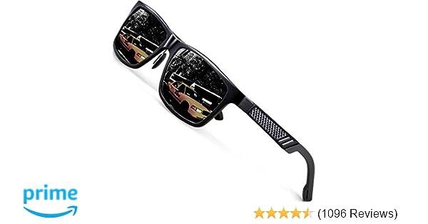 47881b178d Amazon.com  ATTCL Men s Hot Retro Al-Mg Metal Frame Driving Polarized  Sunglasses For Men Women 16560blackgray  Clothing
