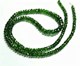 Chrome Diopside in faceted rondelle shape ,2 mm to 5 mm , 17- inch strand