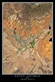 Terra Prints Saint George Utah Satellite Poster Map M 16 x 24 inch