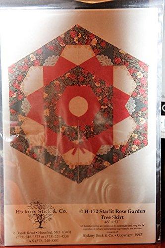 H-172 Starlit Rose Garden Tree Skirt Quilt Pattern 46