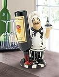 Italian Chef Tabletop Countertop Wine Bottle Holder Kitchen Decor