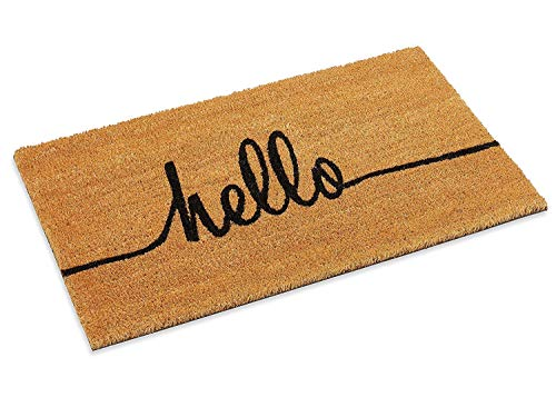 Kempf Hello Greeting Coco Front Door mat Two Sizes 18