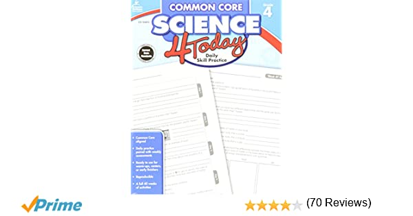 Amazon.com: Common Core Science 4 Today, Grade 4: Daily Skill ...