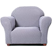 KEET Roundy Kids Chair Gingham, Navy