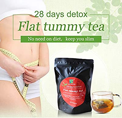 28 Days Detox Tea, Diet Drink Tea, Flat Tummy Tea, 28 Satchel Slimming Tea, Weight Loss Tea for Body Cleanse and Appetite Control Morning and Evening Drinking