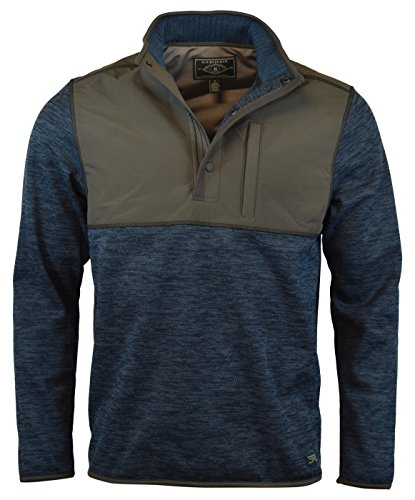 G.H. Bass & Co. Men's Mixed Media Pullover (Blue, Medium) from G.H. Bass & Co.