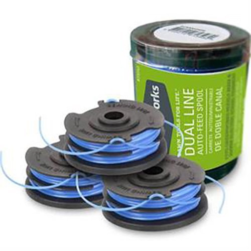 Greenworks 065-Inch Dual Line String Trimmer Replacement Spool 3-Pack 2900719 (2 Packs of 3)