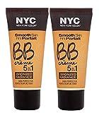 N.Y.C. New York Color BB Creme Foundation Bronze, Medium, 1 Fluid Ounce (2 Pack)