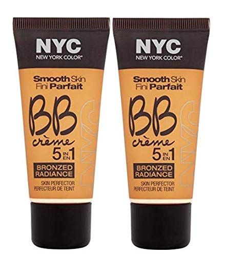 N.Y.C. New York Color BB Creme Foundation Bronze, Medium, 1 Fluid Ounce (2 Pack)