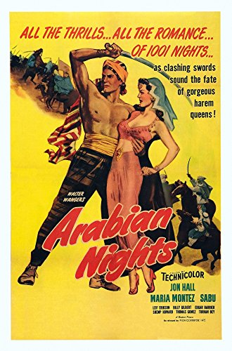 (Arabian Nights Poster Art L-R Jon Hall Maria Montez 1942 Movie Poster Masterprint (11 x 17))