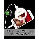 Selfie Light Rechargeable, Selfie Ring Light for iPhone, Ring Light for Phone, 1500Mah Power Bank 36 Led Light Clip on iPhone Samsung Galaxy iPad Photography Camera,White