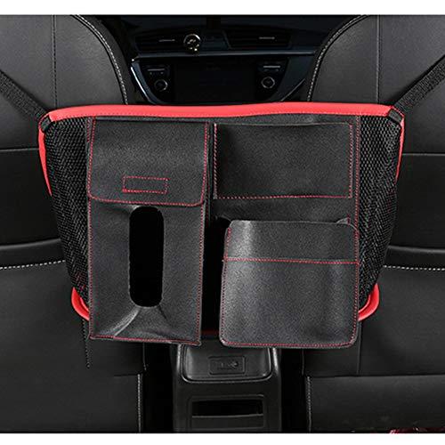 Dog Car Barrier, Backseat Car Storage Organizer Organizer Between Seats Double Side Storage Design, Easy Installation,Red:
