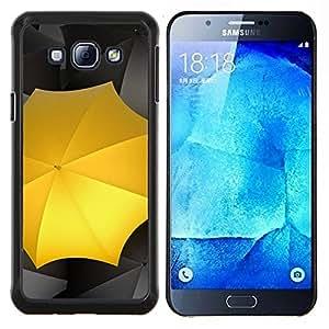 Paraguas Amarillo- Metal de aluminio y de plástico duro Caja del teléfono - Negro - Samsung Galaxy A8 / SM-A800