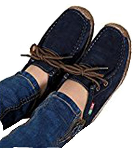 Navy up NEW Woman Fashion Flats Shoes Casual Woman Wild Shoes blue Women Lace Warm Comfortable Footwear n66qwrYWg