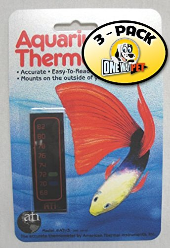 ATI Aquarium Thermometer (Pack of 3) by American Thermal