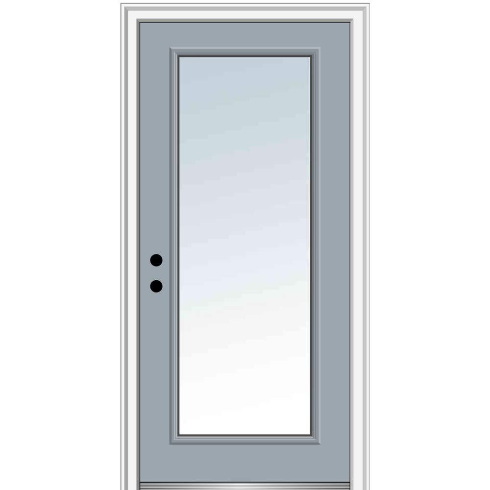 National Door Company Zz13504r Steel Painted Right Hand Inswing Exterior Prehung Door Full Lite Clear Glass 30 X80 Steel 80 Height Amazon Com Industrial Scientific