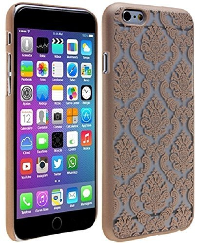 Damask Flush (Shopping_Shop2000® Damask Lace Vintage Urban Ultra Slim Fit Rubberized Coating Plastic Hard Case Cover For iPhone 6 6s 4.7 inch (iphone 6 6s 4.7