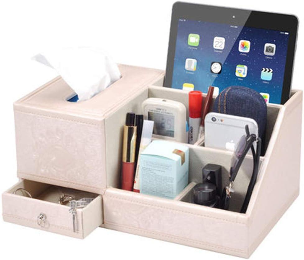 XOSHX Cuir Salon Multifonction Table Basse Surface de Bureau T/él/écommande Bo/îte de Rangement Bo/îte /à mouchoirs Simple Plateau Maison 1