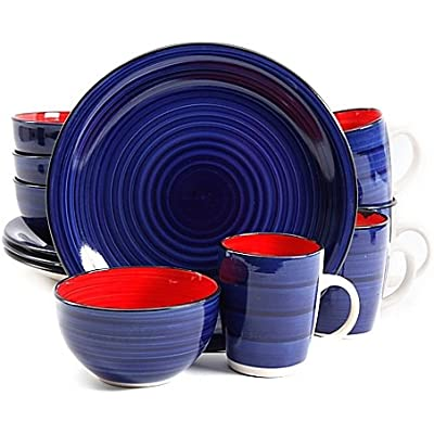 Click for Gibson Home Color Fling 12 Piece Dinnerware Set (Cobalt)