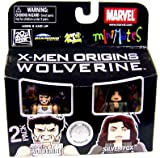 Marvel Minimates Exclusive X-Men Origins Wolverine 2 Pack Weapon X Wolverine and Silver Fox by Diamond Select