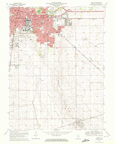- YellowMaps Urbana IL topo map, 1:24000 Scale, 7.5 X 7.5 Minute, Historical, 1970, Updated 1972, 26.8 x 21.5 in - Tyvek