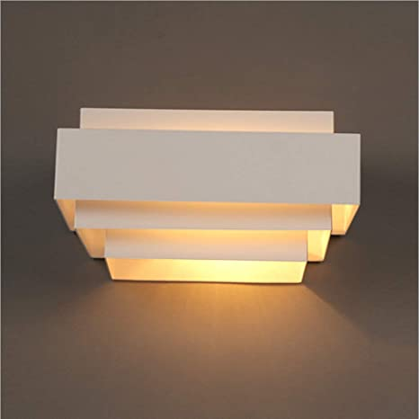 Decoroom Modern Wall Lamp LED Wall Sconces White Wall Light Fixtures  Painting Finish 5W Indoor Lamp Shade for Bedroom Corridor Balcony Stairs  Path ...