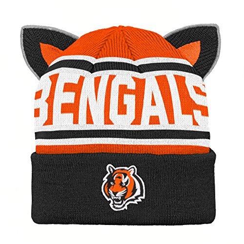 Cincinnati Bengals Baby Clothes - Outerstuff NFL Cincinnati Bengals Team Ears Fleece Knit Hat Black, Infant One Size