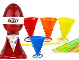 silicon snow cone cups - BLIZZY Snow Cone Maker Set With (4) Reusable Silicone Cups and Holders| Includes Ice Shaver, Paper AND Silicone Cups, and Straws