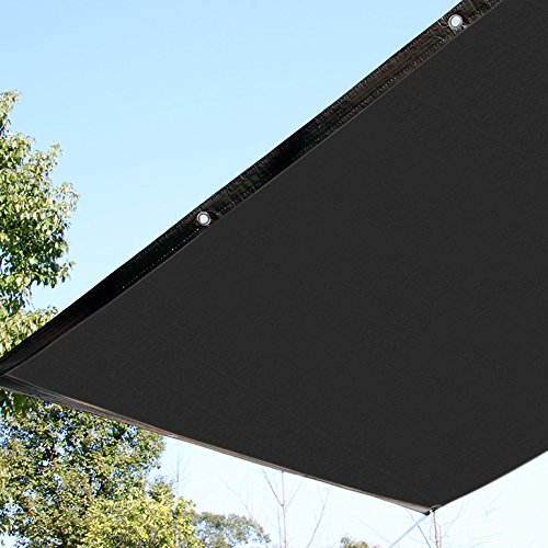 Ecover 12x12ft Sun Mesh Shade Panel,90% Shade Cloth UV Sunblock with Grommets for Patio/Pergola/Canopy,Black by Ecover
