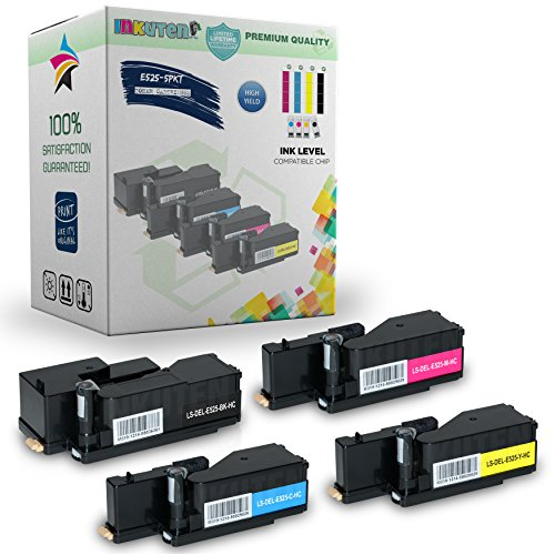 4PK DELL E525W E525DW High Yield Toner Cartridges - 1 Black,