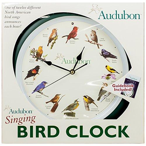Audubon Singing Bird Clock 13 Quot Green New Ebay