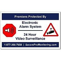 10 REAL Electronic Burglar Alarm 24 Hour Video Surveillance Security Decals Door & Window Stickers